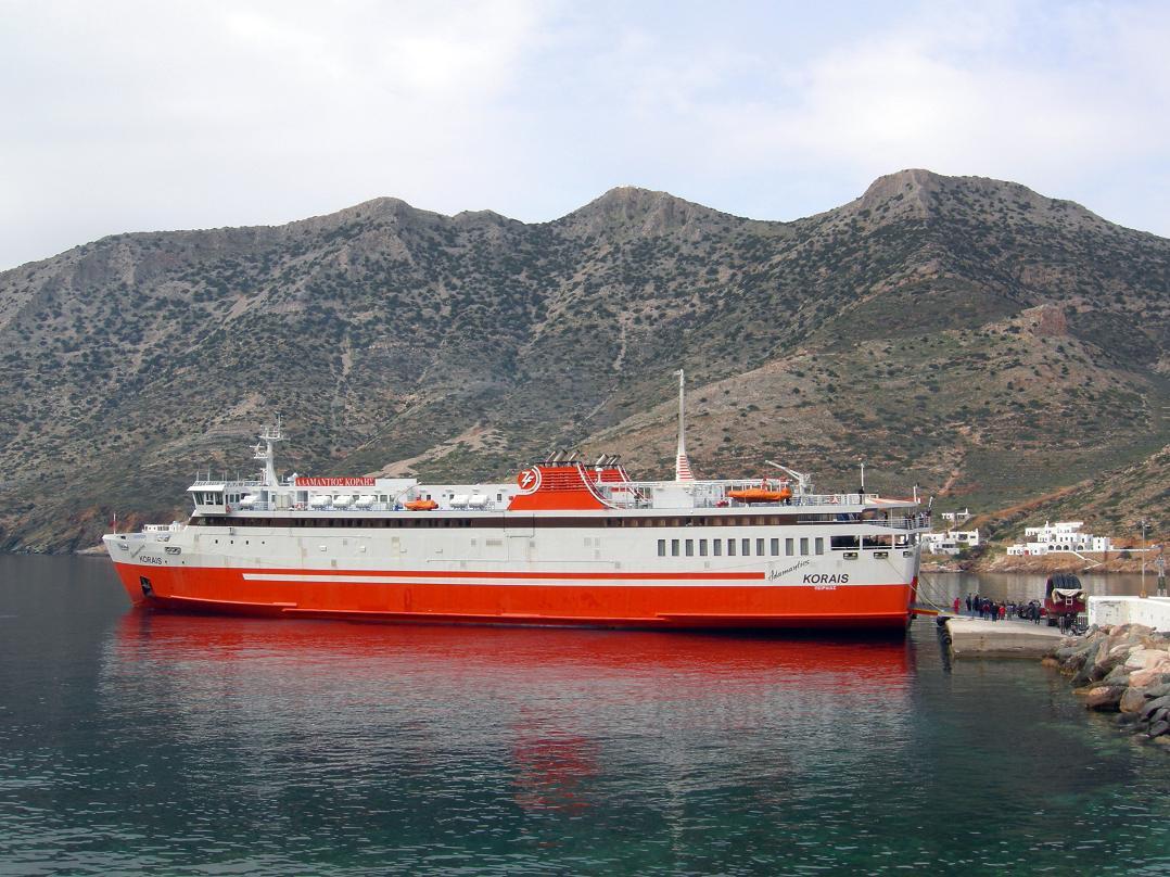 Adamantios Korais at Sifnos port