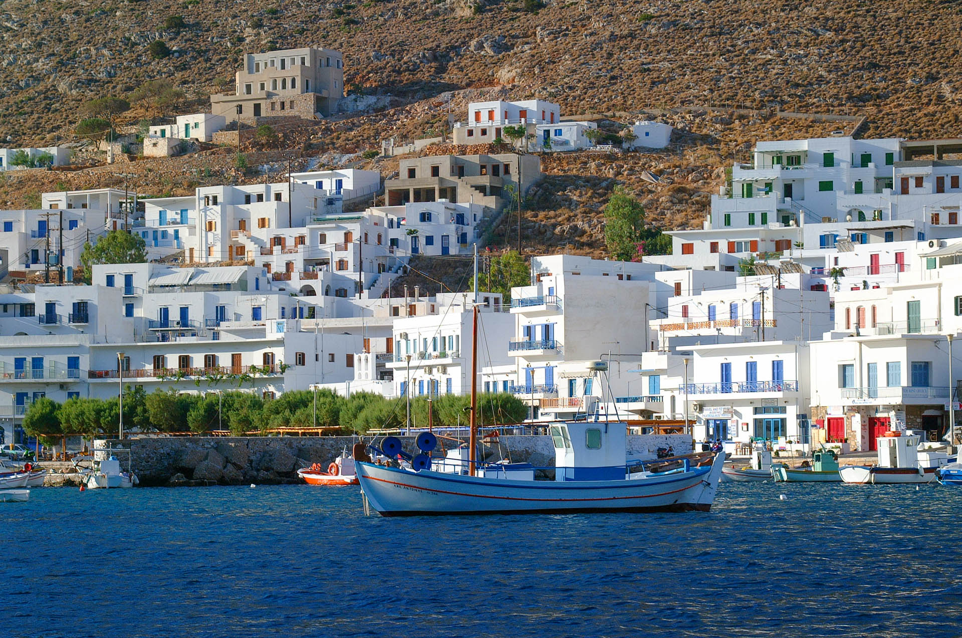 Fishing boat at Sifnos port
